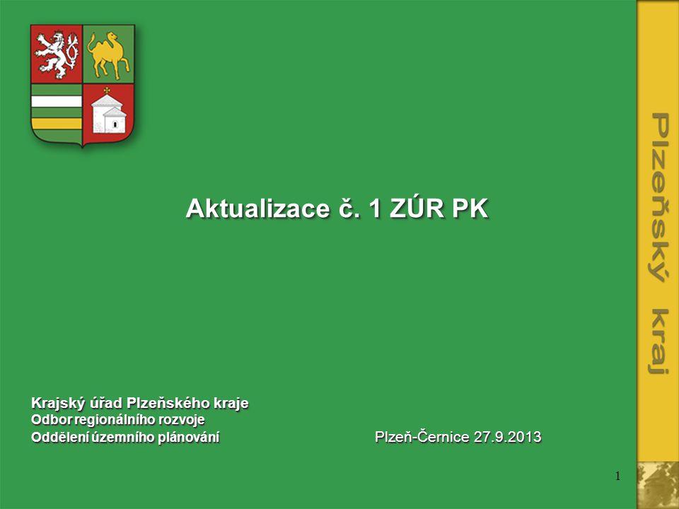 Aktualizace č. 1 ZÚR PK Krajský úřad Plzeňského kraje