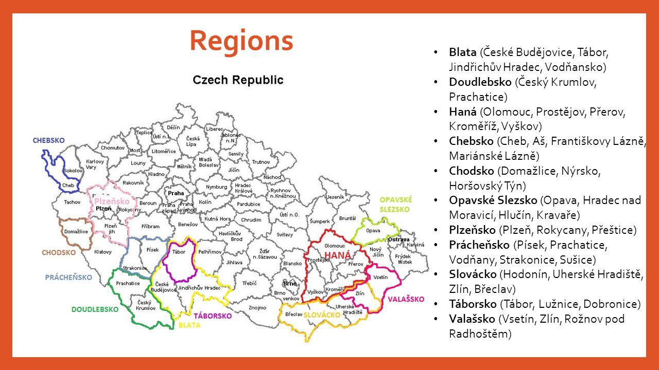 Regions Blata (České Budějovice, Tábor, Jindřichův Hradec, Vodňansko)