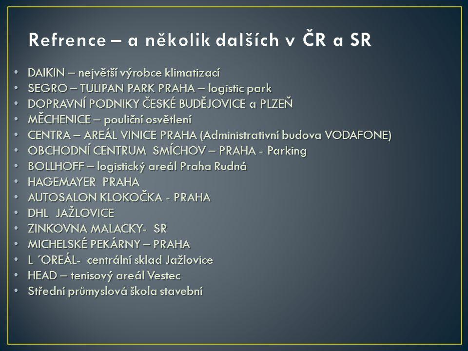 Refrence – a několik dalších v ČR a SR