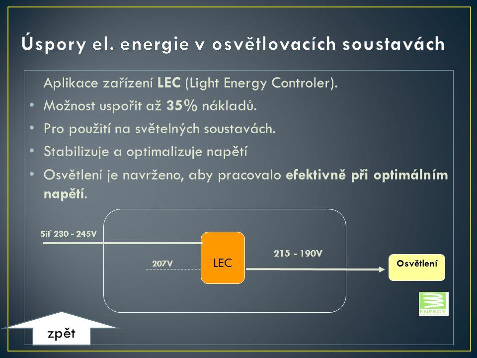 Úspory el. energie v osvětlovacích soustavách