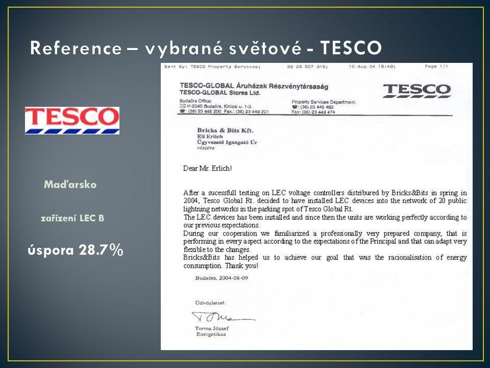 Reference – vybrané světové - TESCO