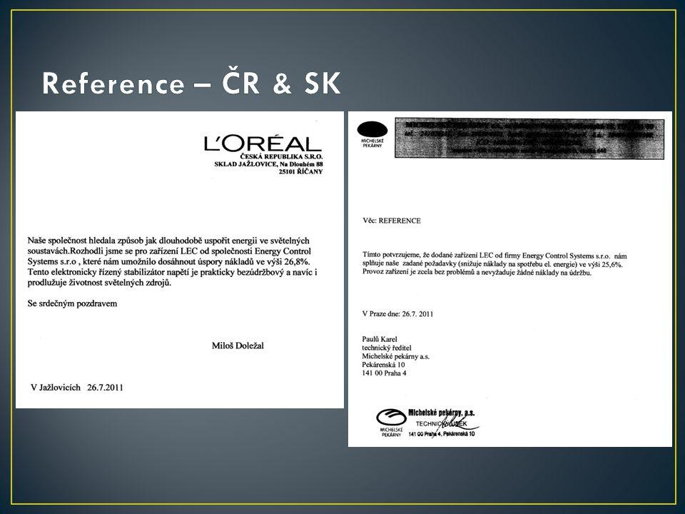 Reference – ČR & SK