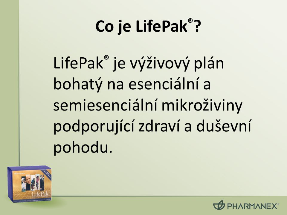 Co je LifePak®.