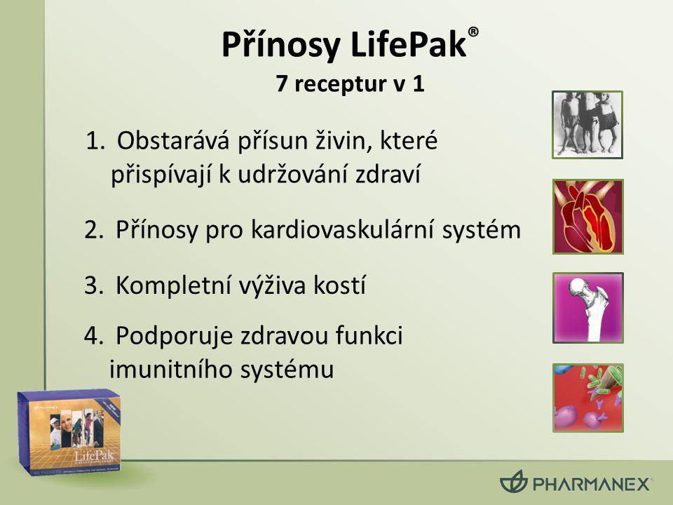 Přínosy LifePak® 7 receptur v 1
