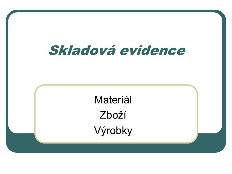 Materiál Zboží Výrobky