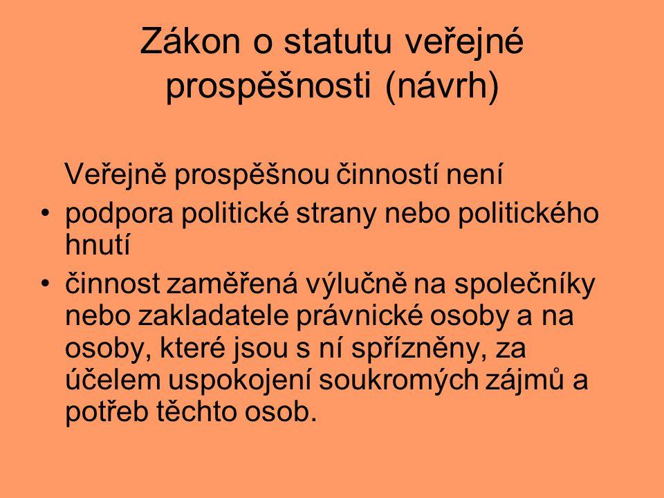 Zákon o statutu veřejné prospěšnosti (návrh)