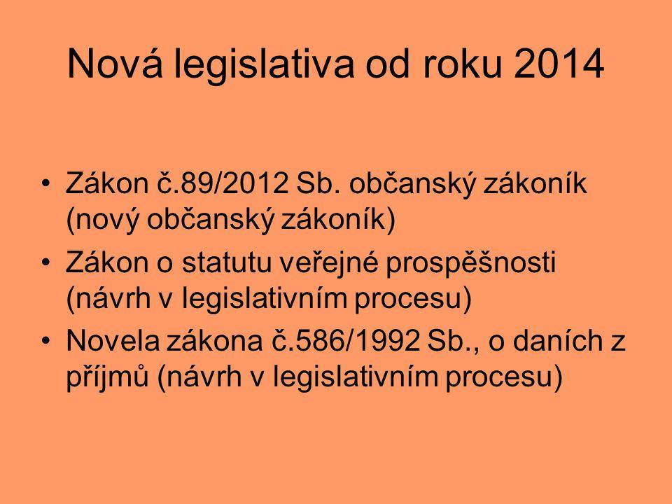 Nová legislativa od roku 2014