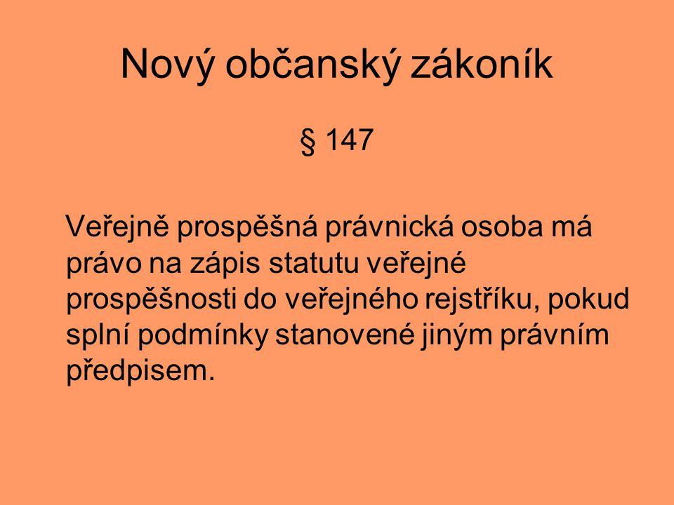 Nový občanský zákoník § 147