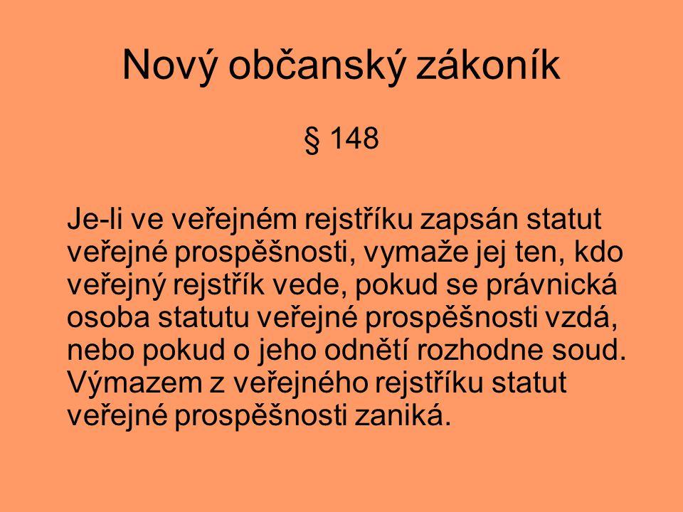 Nový občanský zákoník § 148