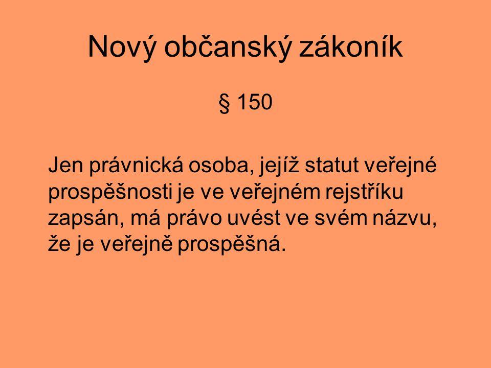 Nový občanský zákoník § 150