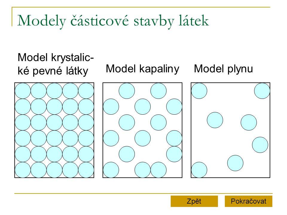 Modely částicové stavby látek