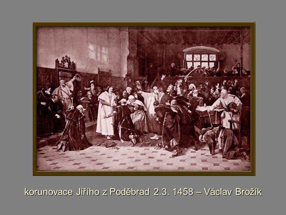 korunovace Jiřího z Poděbrad 2.3. 1458 – Václav Brožík