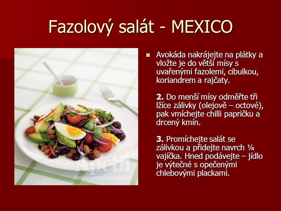 Fazolový salát - MEXICO