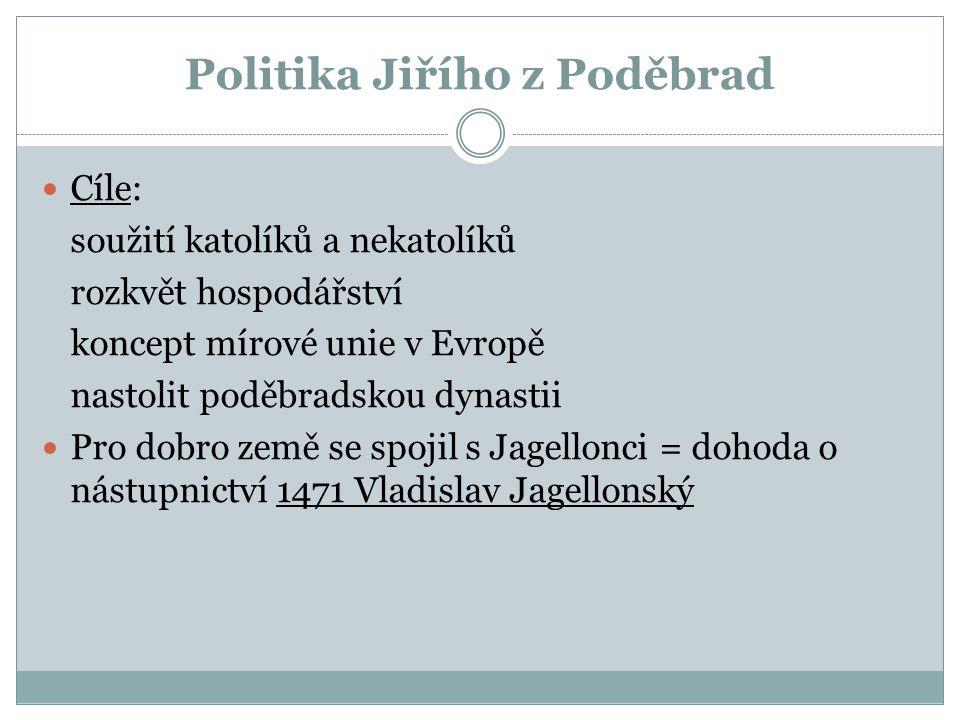 Politika Jiřího z Poděbrad