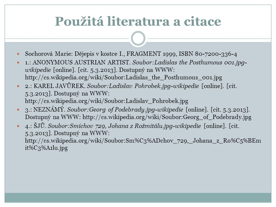 Použitá literatura a citace