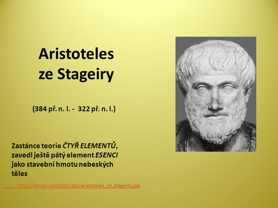 Aristoteles ze Stageiry (384 př. n. l. - 322 př. n. l.)