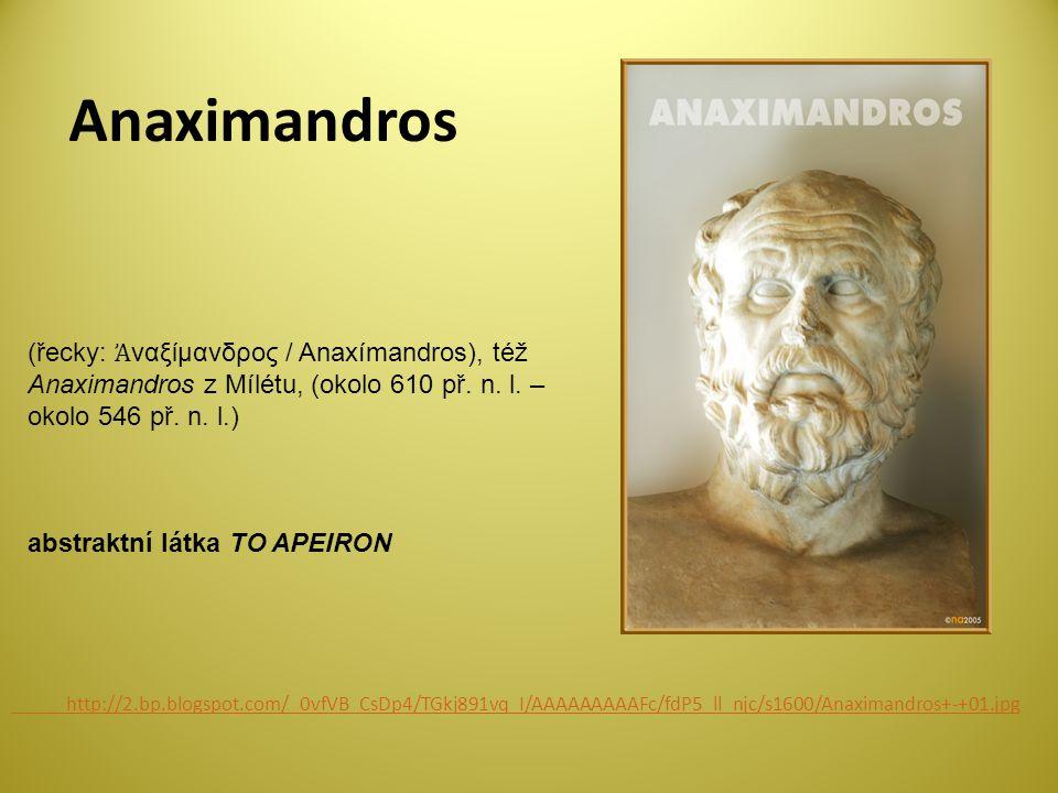 Anaximandros (řecky: Ἀναξίμανδρος / Anaxímandros), též Anaximandros z Mílétu, (okolo 610 př. n. l. – okolo 546 př. n. l.)