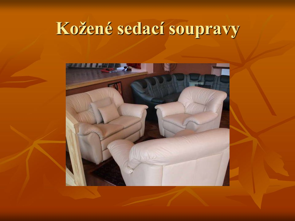 Kožené sedací soupravy