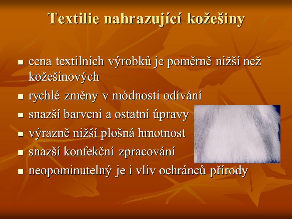 Textilie nahrazující kožešiny
