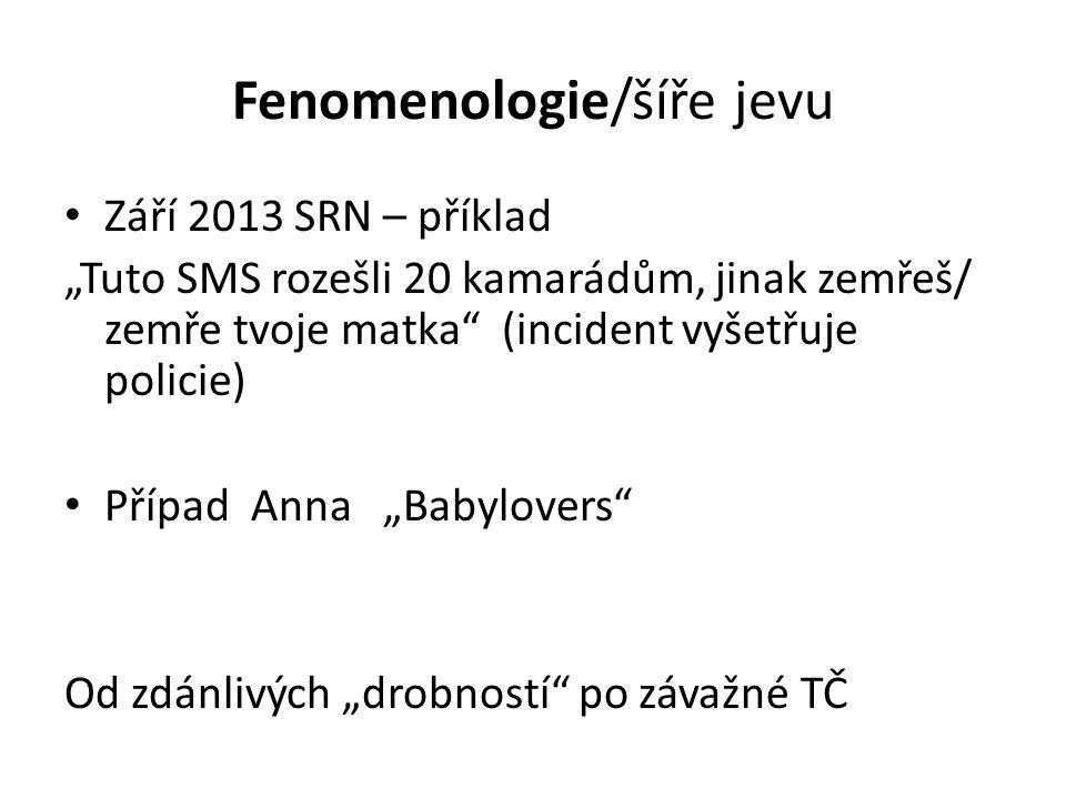 Fenomenologie/šíře jevu