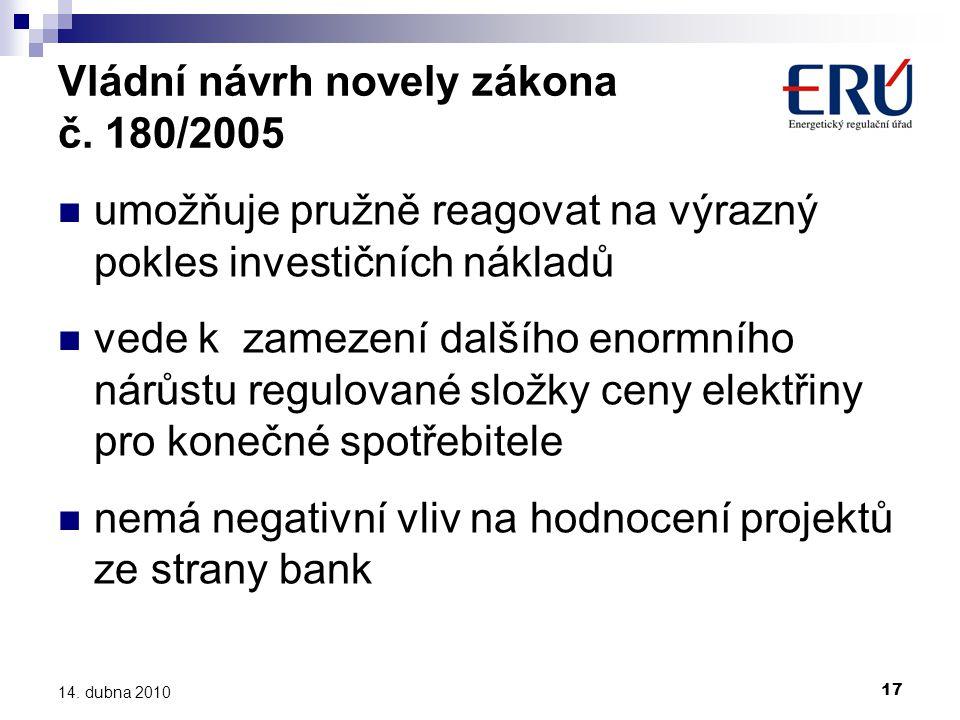 Vládní návrh novely zákona č. 180/2005