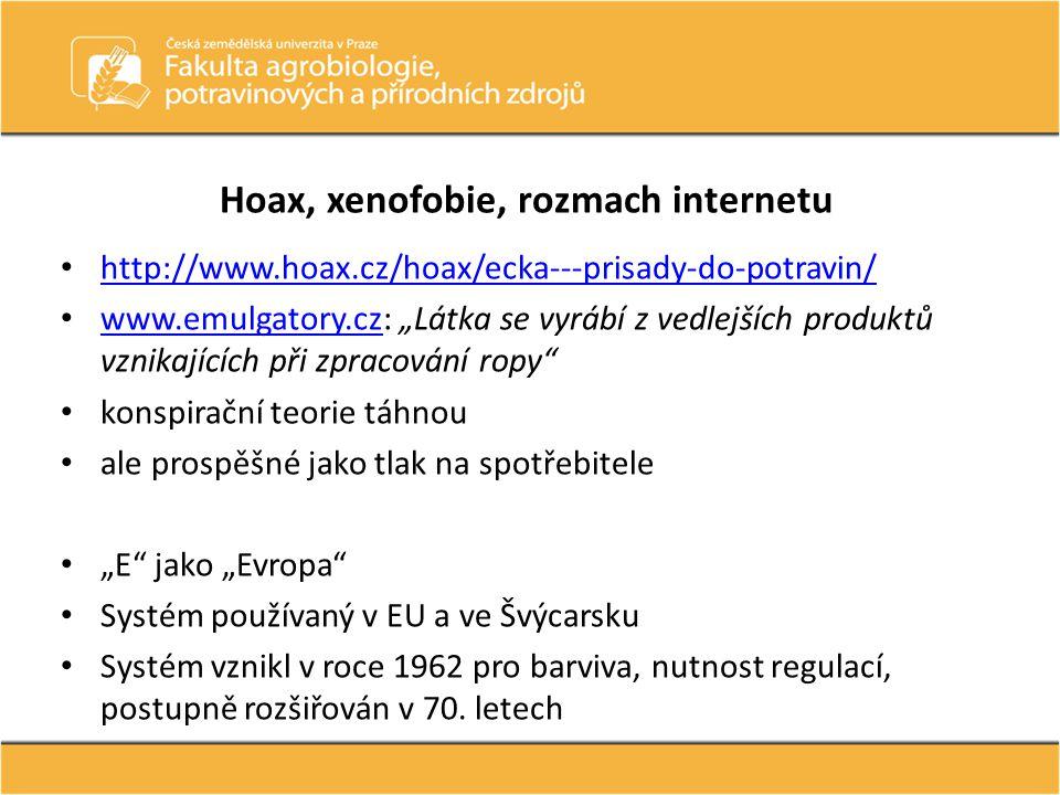 Hoax, xenofobie, rozmach internetu