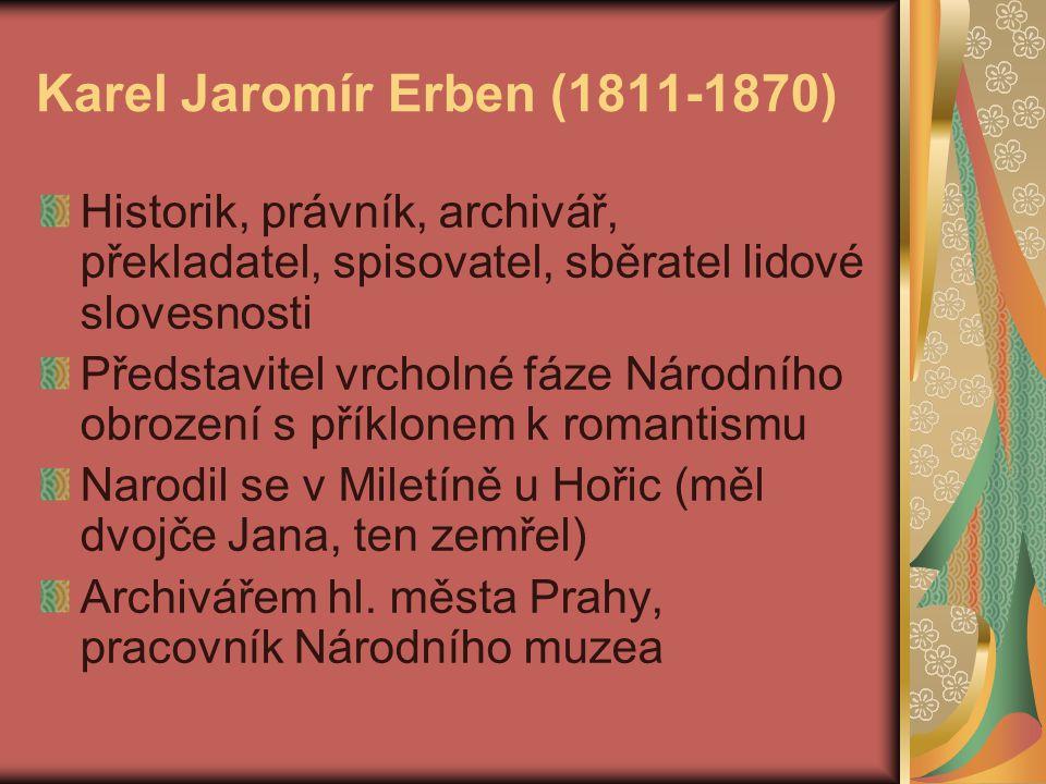 Karel Jaromír Erben (1811-1870)