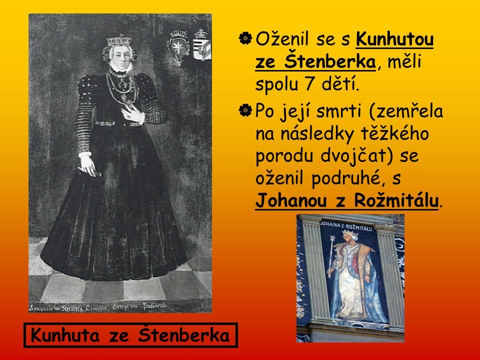 Oženil se s Kunhutou ze Štenberka, měli spolu 7 dětí.