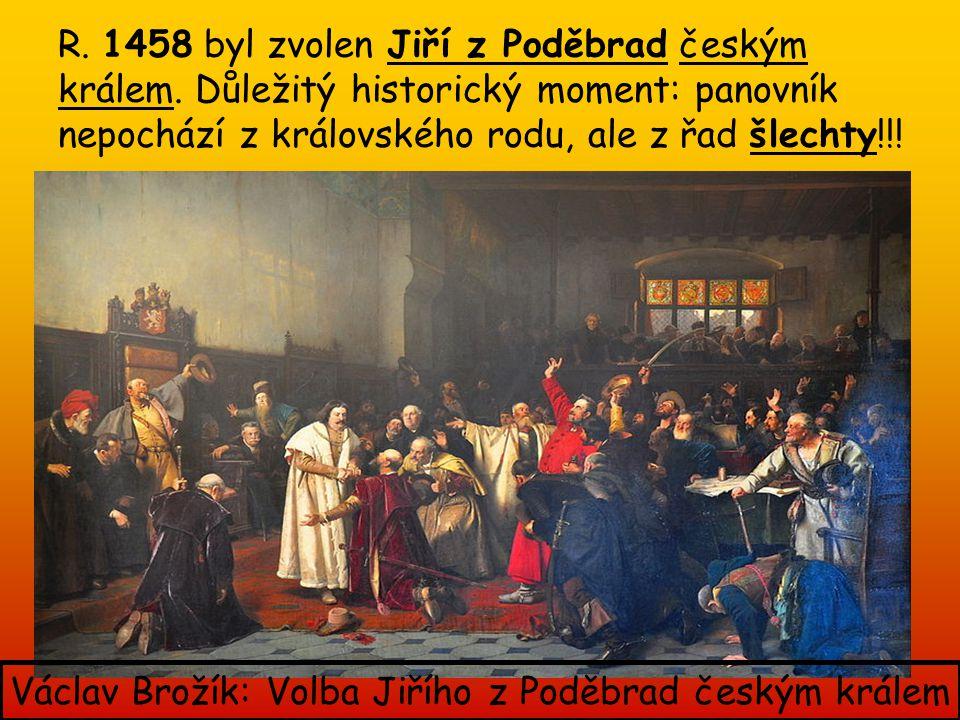 Václav Brožík: Volba Jiřího z Poděbrad českým králem