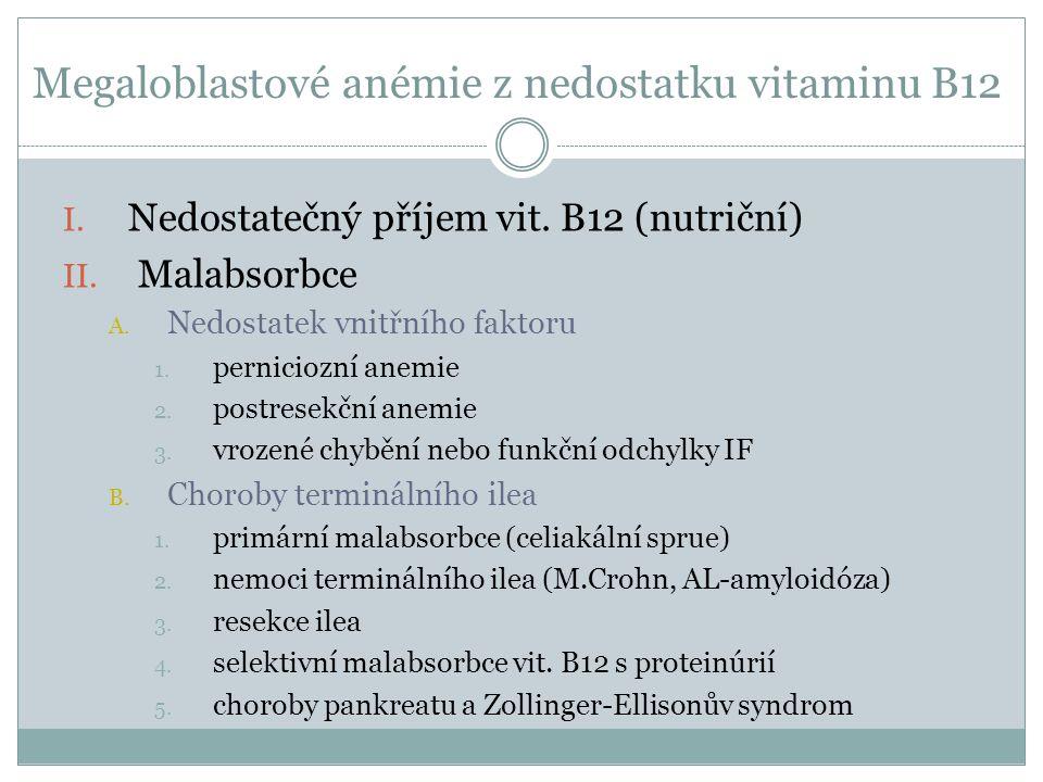 Megaloblastové anémie z nedostatku vitaminu B12