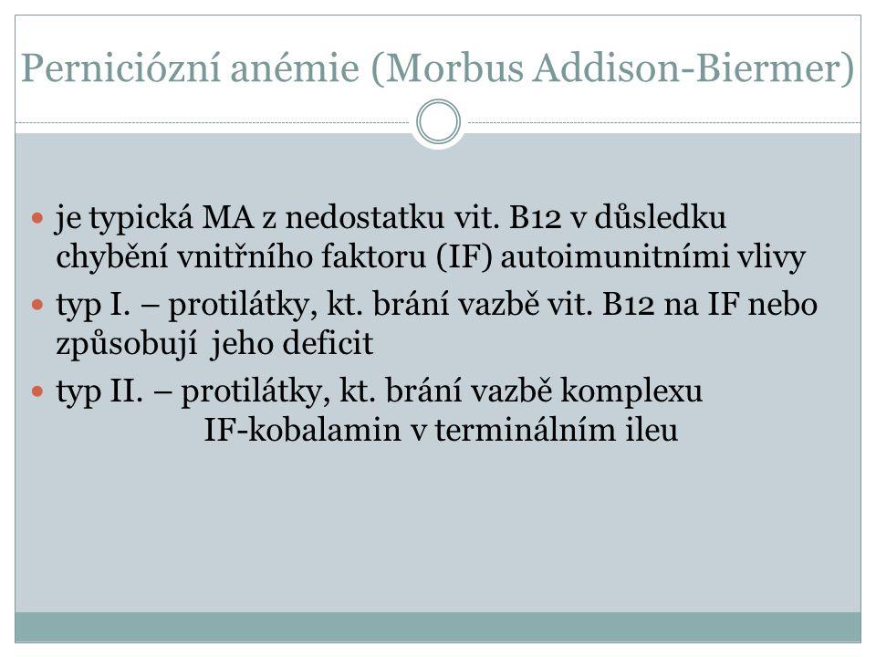Perniciózní anémie (Morbus Addison-Biermer)