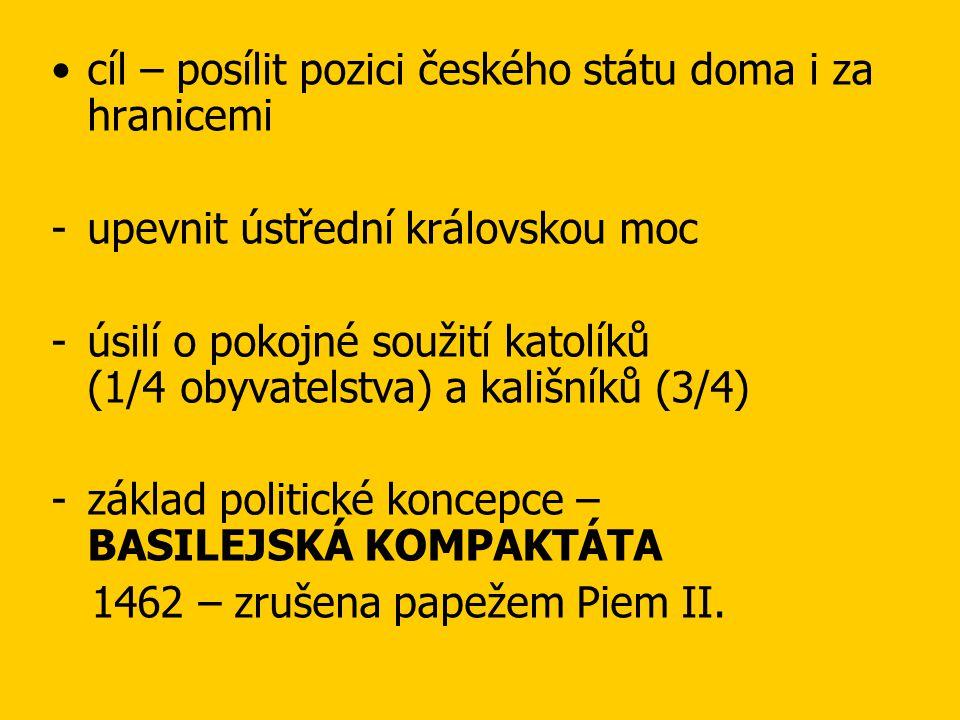 cíl – posílit pozici českého státu doma i za hranicemi