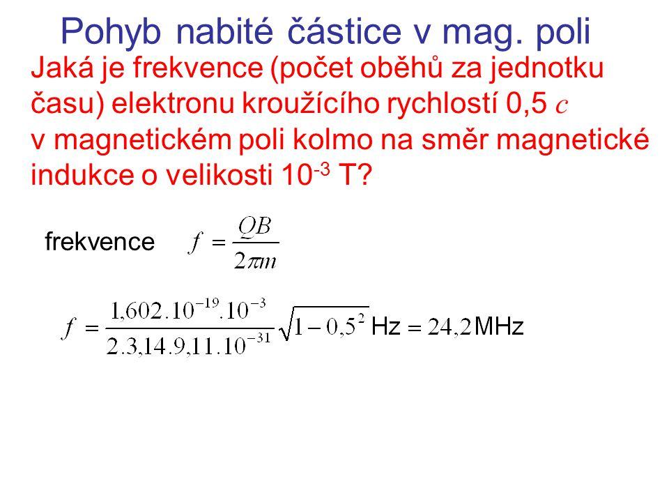 Pohyb nabité částice v mag. poli