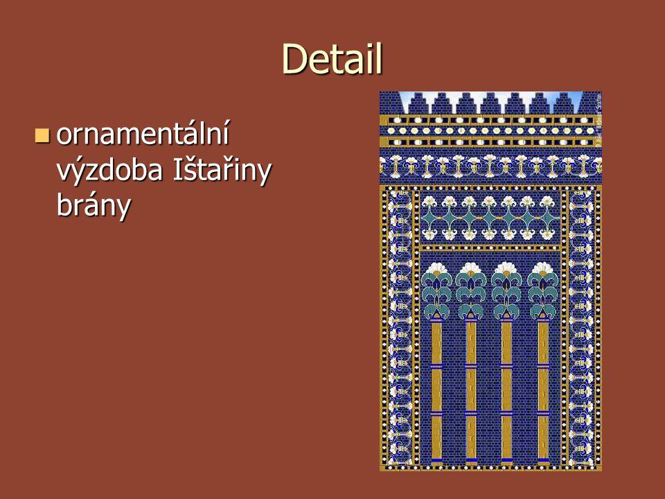 Detail ornamentální výzdoba Ištařiny brány
