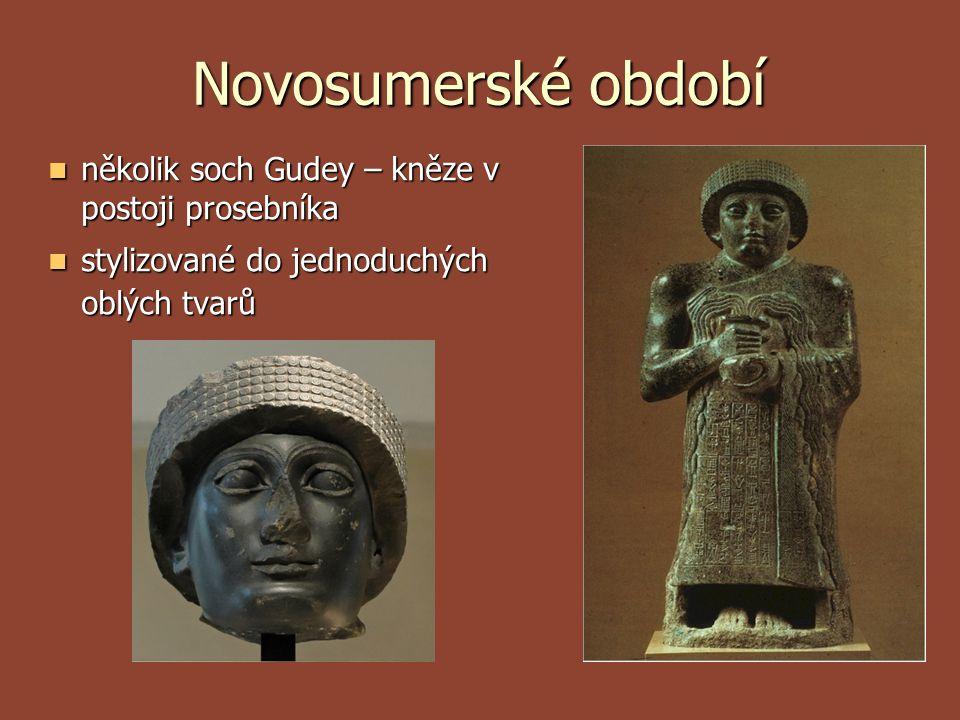 Novosumerské období několik soch Gudey – kněze v postoji prosebníka