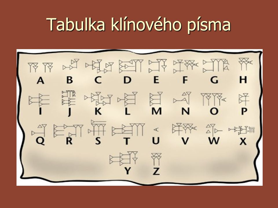 Tabulka klínového písma