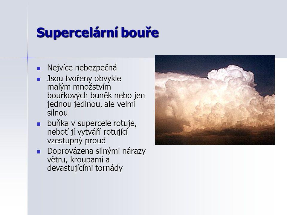 Supercelární bouře Nejvíce nebezpečná