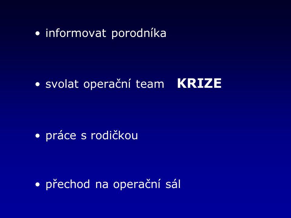 svolat operační team KRIZE