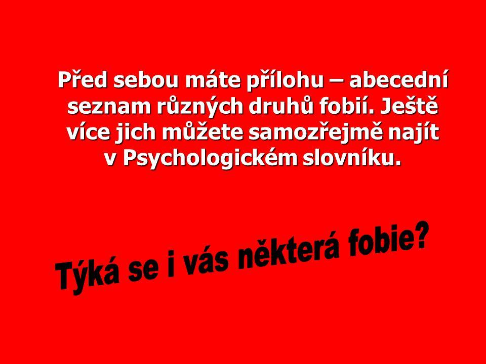 Týká se i vás některá fobie