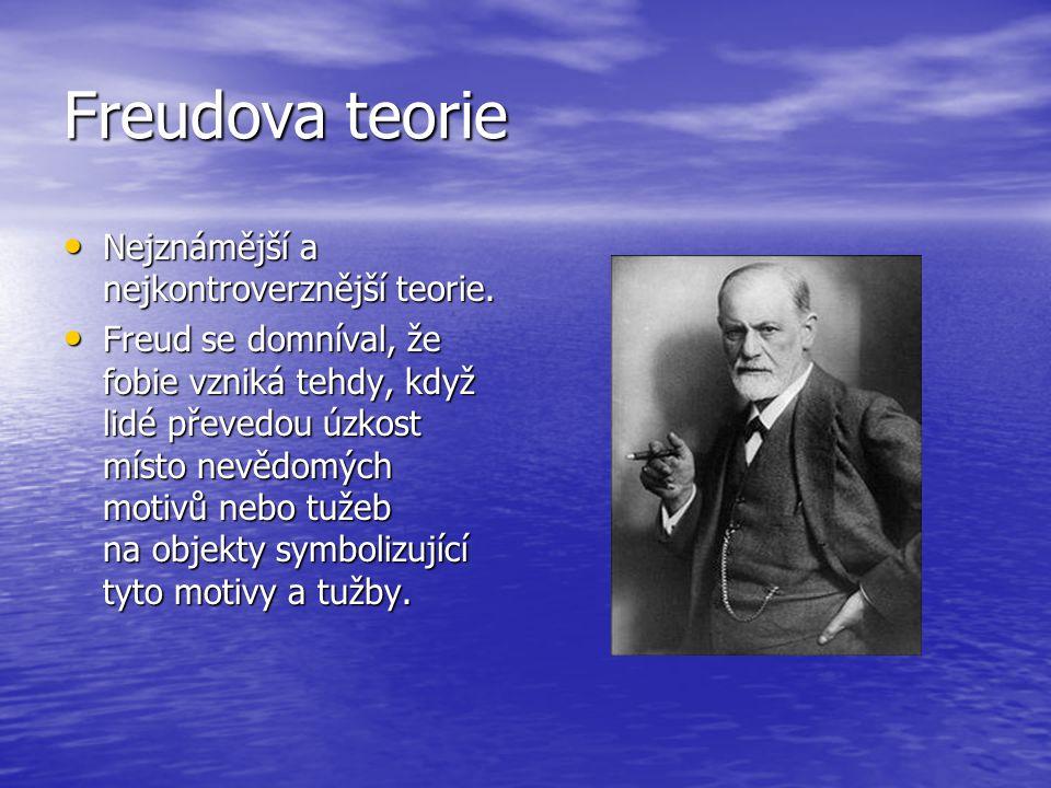 Freudova teorie Nejznámější a nejkontroverznější teorie.