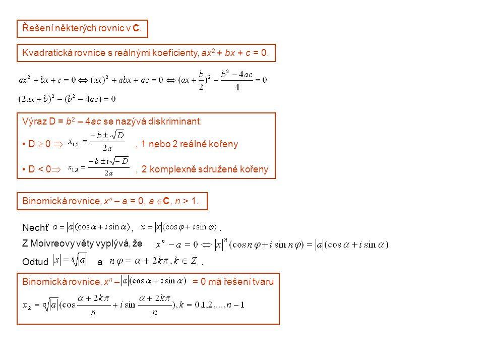 Řešení některých rovnic v C.
