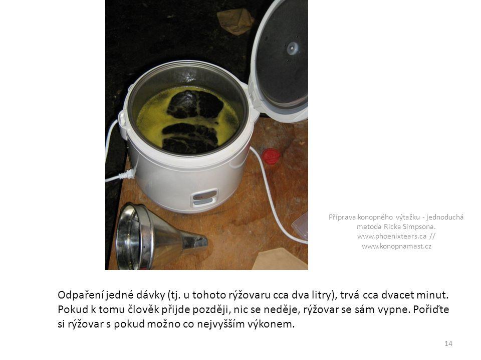 Příprava konopného výtažku - jednoduchá metoda Ricka Simpsona. www