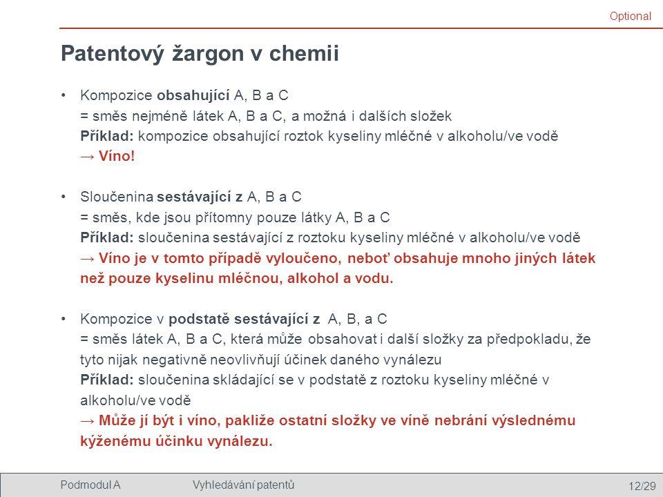 Patentový žargon v chemii