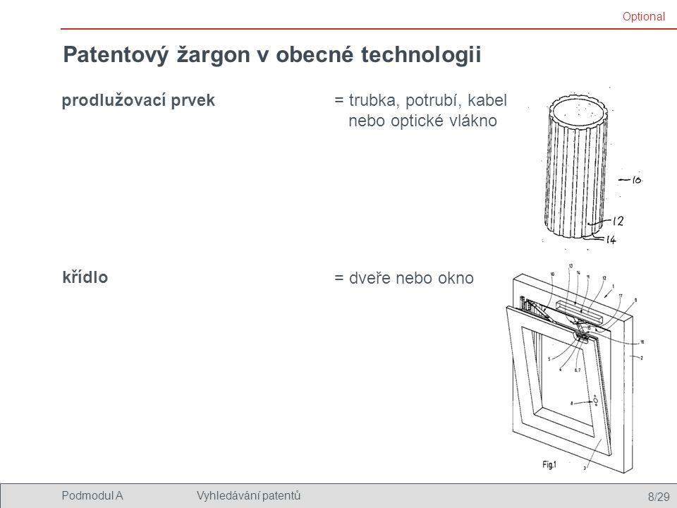 Patentový žargon v obecné technologii