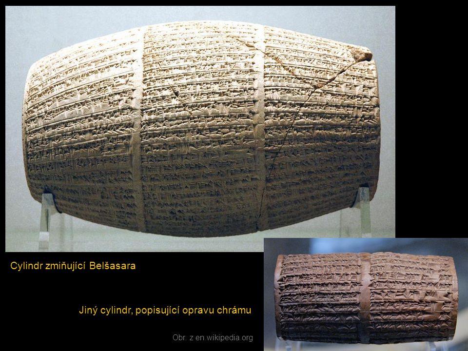 Cylindr zmiňující Belšasara