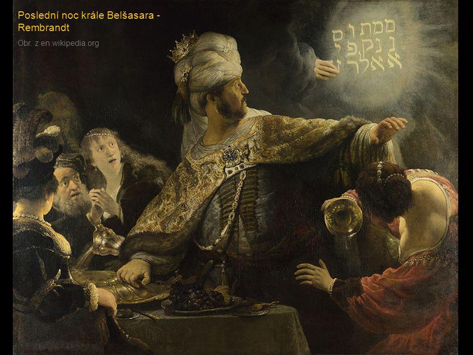 Poslední noc krále Belšasara - Rembrandt