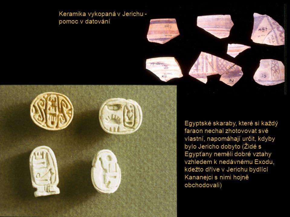 Keramika vykopaná v Jerichu - pomoc v datování