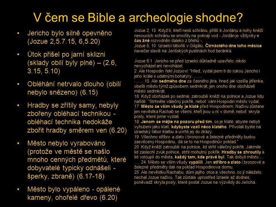 V čem se Bible a archeologie shodne