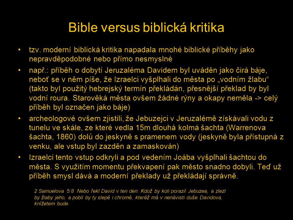Bible versus biblická kritika
