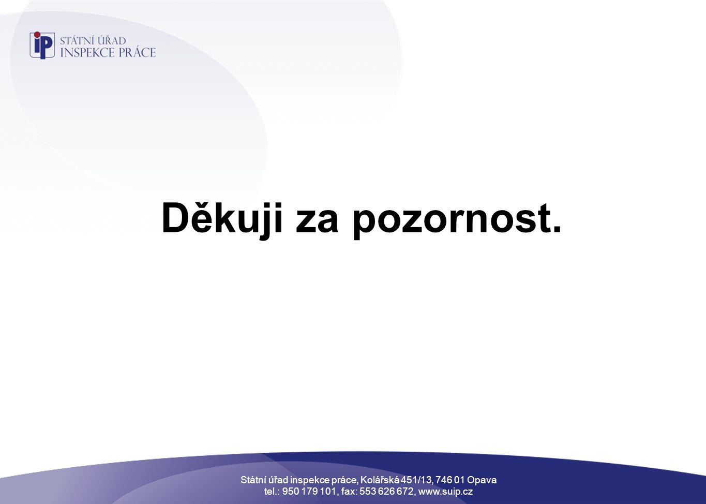 Státní úřad inspekce práce, Kolářská 451/13, 746 01 Opava